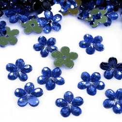 kvietok plastový - modrý