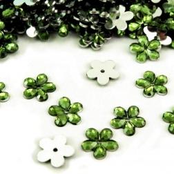 kvietok plastový - zelený