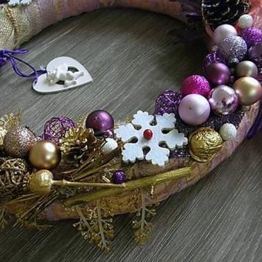 vianočný veniec na dvere - anjelská krása