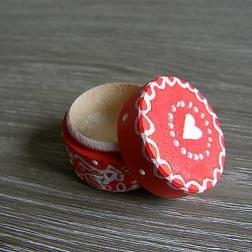 krabička na prstienky ČERVENÁ