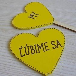 ceduľky do ruky ĽÚBIME SA
