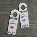 sada - svadobné závesy na kľučku - modro-červené