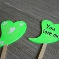 ceduľka I love you - neónová zelená