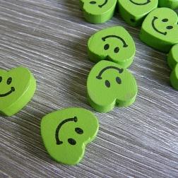 srdce drevené zelené