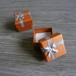 krabička na prstienky medená