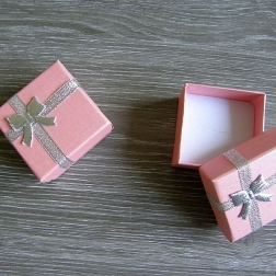 krabička na prstienky ružová