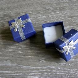 krabička na prstienky modrá