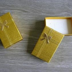 krabička na prstienky zlatá väčšia