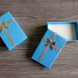 krabička na prstienky modrá väčšia