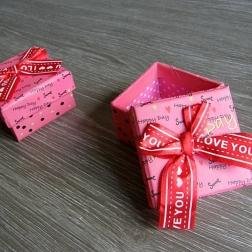 krabička na darček ružová