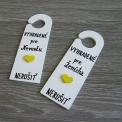 sada na kľučku - príprava nevesty/ženícha v žltom