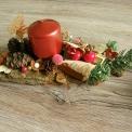 vianočný svietnik s motýlikom