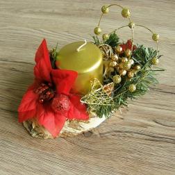 vianočný svietnik - zlatý