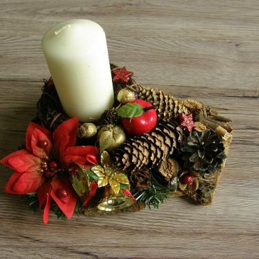 vianočný svietnik - masív