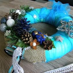 vianočný veniec na dvere - pani ZIMA