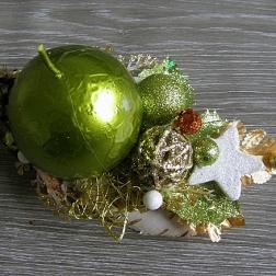 vianočný svietnik - zelený