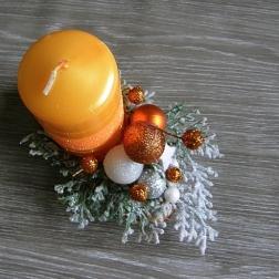 vianočný svietnik - pomarančový