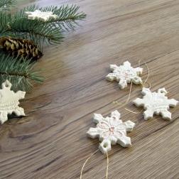 snehová vločka na stromček