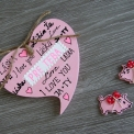ceduľka srdce VALENTÍNKA