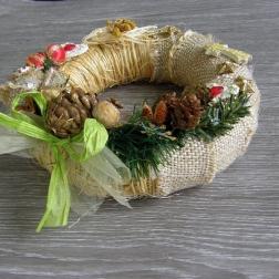 vianočný veniec na dvere - NATURAL