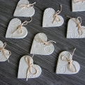 keramické srdiečko biele 5 cm